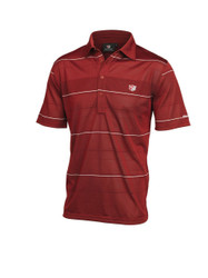 Wilson Staff Performance Mens Striped Golf Polo Red Large
