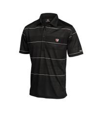 Wilson Staff Performance Mens Striped Golf Polo Black Large