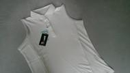 JRB Ladies Sleeveless Golf Shirt White