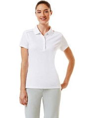 Callway Womens Short Sleeve Golf Polo Bright White XL