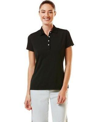 Callway Womens Short Sleeve Golf Polo Caviar