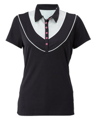 Callway Womens Link Ventilation Golf Polo Caviar Small