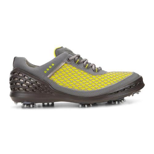 Ecco Mens Cage Golf Shoes Sulphur/Concrete/Black
