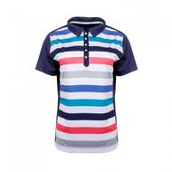 JRB Ladies Striped Golf Shirt