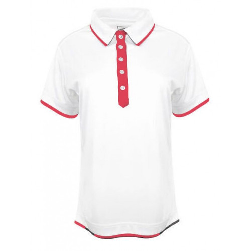 JRB Ladies Plain White Trim Golf Shirt