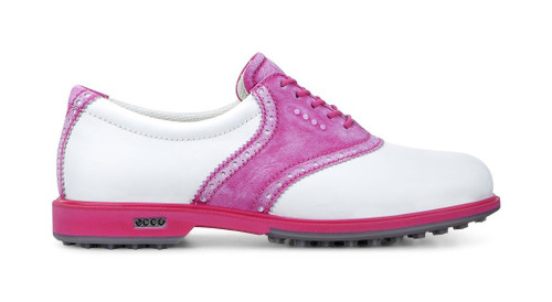 Ecco Womens Classic Hybrid Golf Shoes White Candy