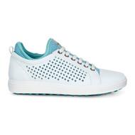 Ecco Womens Casual Hybrid Golf Shoes White Aquatic