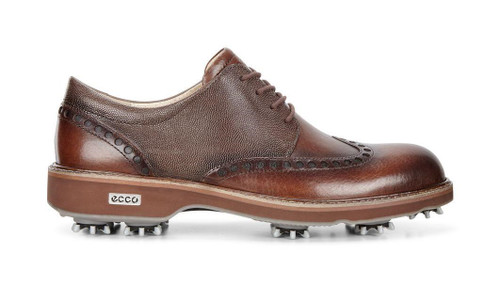 Ecco Mens Classic Lux Golf Shoes Bison Stone