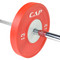 25 kg CAP Olympic Rubber Competition Bumper Plate with Steel Insert on barbell