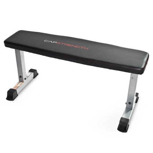 CAP Strength Flat Bench, Angled View