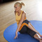 Model stretching on CAP Antimicrobial Multi-Use Round Activity Mat, Blue, 5 ft