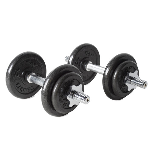 40 lb CAP Adjustable Cast Iron Dumbbell Set