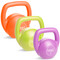 30 lb Tone Fitness PVC Coated Cement Kettlebell Set