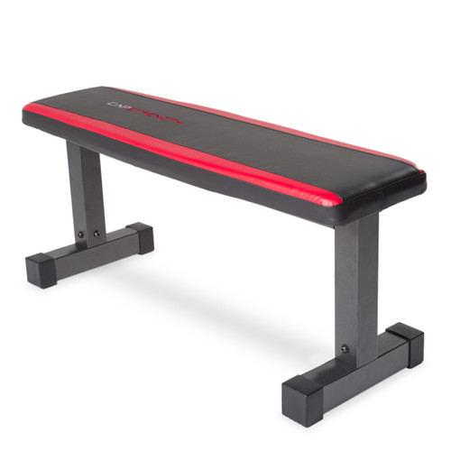 CAP Strength Memory Foam Flat Bench, angled view