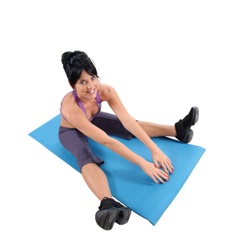 Model using Tone Fitness High Density Exercise Mat