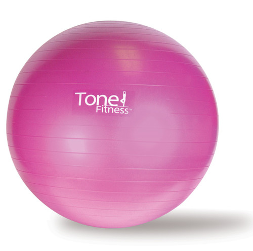 Tone Fitness Anti-Burst Gym Ball, Pink, 55 cm