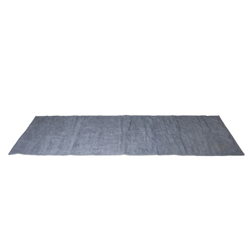 Gray Tone Fitness Machine Washable Terry Cloth Yoga Mat
