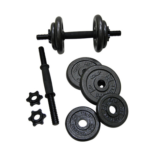 40 pound CAP Strength Adjustable Cast Iron Dumbbell Set unassembled