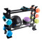 CAP 27 inch Dumbbell and Accessories Rack displaying dumbbells and fitness balls