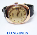 Solid 14k Rose Gold LONGINES Mens AUTOMATIC Watch 1960s Cal 501* EXLNT* SERVICED