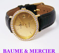 Solid & Heavy 18k BAUME & MERCIER Ladies Watch 37063 w/ 1ct Diamonds FVS1* EXLNT
