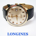 Vintage 10k GF LONGINES ADMIRAL 5 STAR Automatic Watch 1960s Cal 501* EXLNT