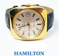 Gold HAMILTON DATE Mens Automatic Watch c.1970s Cal 822* EXLNT SERVICED