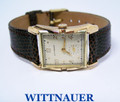 Vintage 14k Gold WITTNAUER Mens Winding Watch c1950s Cal.9WN* EXLNT* SERVICED