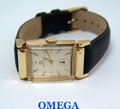 Solid 14k OMEGA FLEXIBLE LOGS Winding Watch c.1940 Cal R17.8* EXLNT* RARE