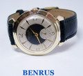Vintage BENRUS in Gold Color Mens Winding Watch DN2A c.1960s Cal1281* SERVICED