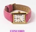 Solid 18K Yellow Gold CONCORD Ladies Watch W/Leather Band* EXLNT* SERVICED