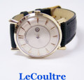 Vintage 14k LECOULTRE MYSTERY DIAL Mens Winding Watch Cal 480/CW EXLNT* SERVICED