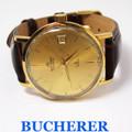 Vintage 18K GP BUCHERER Mens Automatic Watch 534 P c.1970s* EXLNT* SERVICED