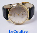 Solid 14k LeCOULTRE Winding Mens Watch 1960s Cal. K818/CW * EXLNT* SERVICED