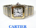 S/Steel & 18k Bezel CARTIER SANTOS Unisex Automatic Watch* EXLNT* SERVICED