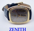 Solid 18k ZENITH Automatic DAY DATE Watch c.1970s CAl 346* EXLNT Cond* TESTED