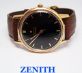 Solid Rose 18k ZENITH Automatic Watch c.1955 CAl 133.8 EXLNT Condition* SERVICED
