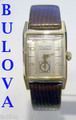 Solid 14k BULOVA Mens Automatic Watch Cal. 9 AR c.1951* RARE* EXLNT* SERVICED