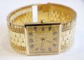 New 18k Gold JUVENIA MACHO Men's Automatic 25J watch w/Diamond Hour Markers