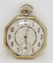 gold color namdor mens winding pocket watch circa 1920s in good image 1