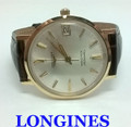 Solid 14k LONGINES GRAND PRIZE Automatic Watch 1960's Cal.343 EXLNT SERVICED