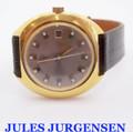Gold JULES JURGENSEN Mens Automaic Watch 1970s H69.311* EXLNT* SERVICED