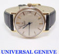 Vintage 14K UNIVERSAL GENEVE Mens Polerouter AUTOMATIC Watch EXLNT* SERVICED