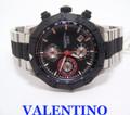 Mens New Swiss VALENTINO Automatic Chronograph Watch 45 mm 100m V40LCA9R909-S09R