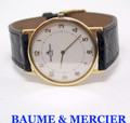 Slim 18k Gold BAUME & MERCIER Mens Quartz Watch Ref.15171* EXLNT* SERVICED