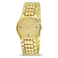 NOS 18k Yellow Gold JUVENIA BIARRITZ Men's watch Ref 11346 with Diamond Dial & Sapphires