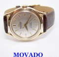 14k MOVADO TIFFANY & CO Automatic Watch 1960s Cal 481A SERVICED* RARE* EXLNT