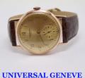 Vintage 18k Rose Gold UNIVERSAL GENEVE Mens Winding Watch 1950s Cal 262* EXLNT