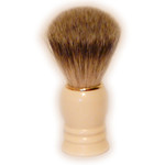 Zenith Badger Shaving Brush, Antique White