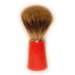 Zenith Badger Bristle Shaving Brush, Red